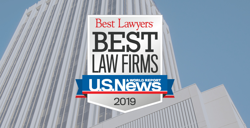 Best Lawyers® Best Law Firms 2019