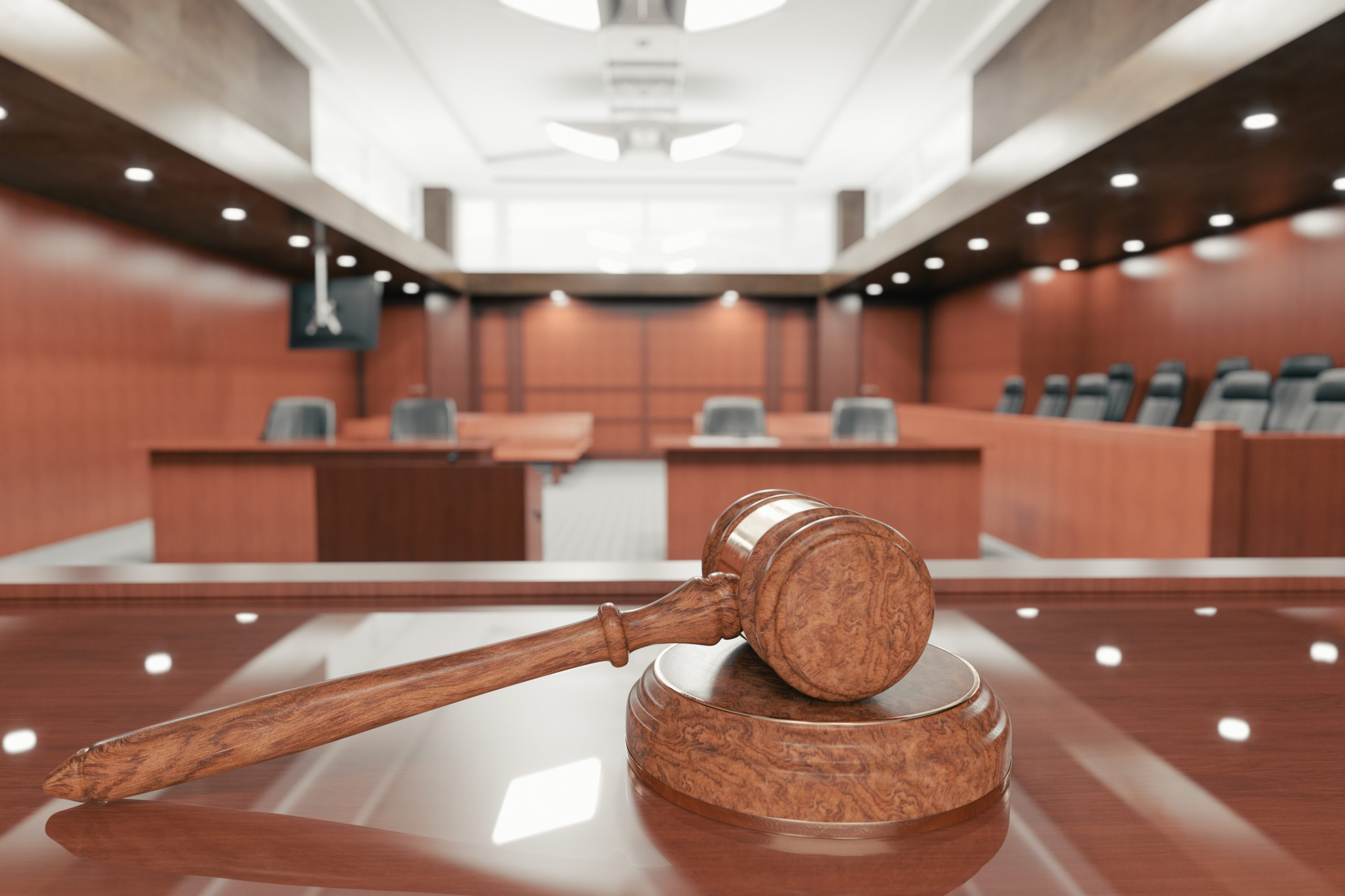 Courtroom and Gavel