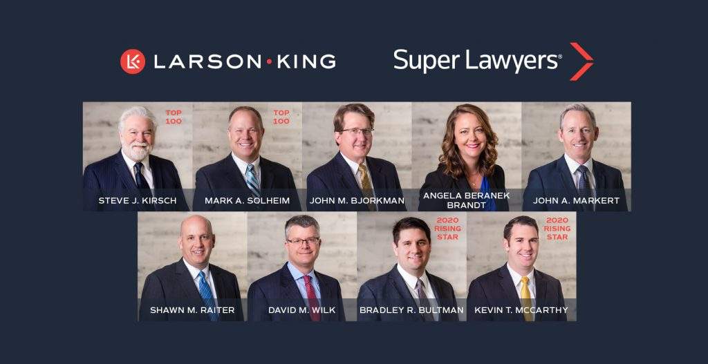 2020 Larson King Minnesota Super Lawyers and Rising Stars