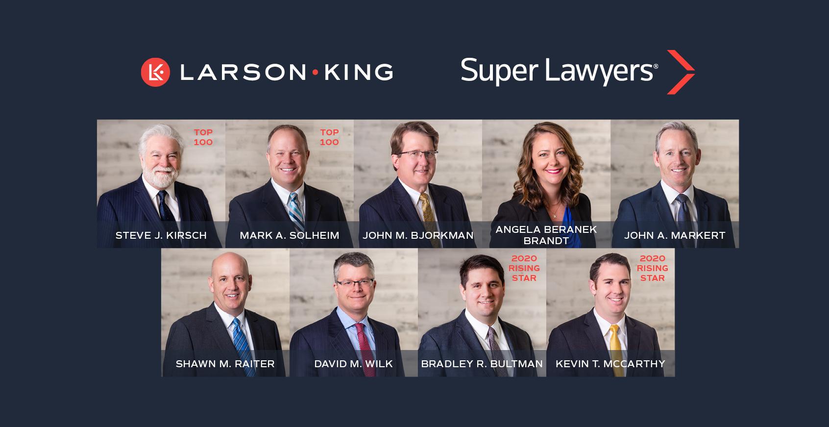 2020 Larson King Minnesota Super Lawyers and Rising Stars