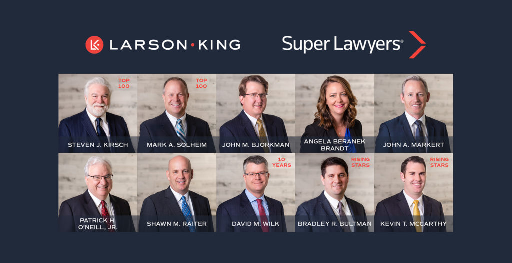 Ten Larson King Attorneys Named to the 2021 Super Lawyers Lists